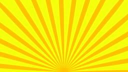 Retro striped sunburst background with grunge effect, computer generated backdrop, 3D render