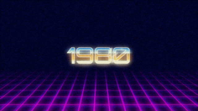 retro style titel 1980s intro - 1980 stock videos and b-roll footage