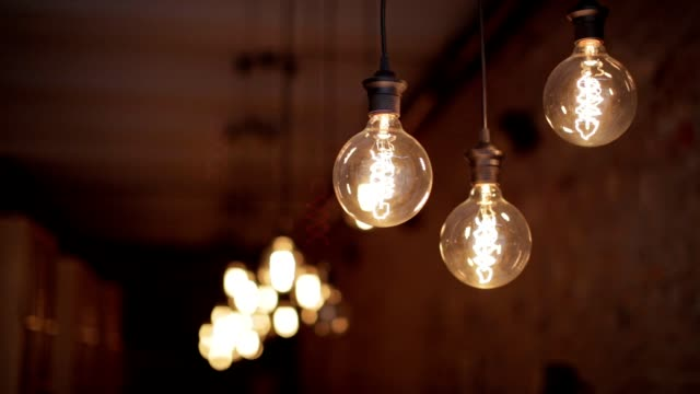 retro styled lamps - electric lamp stock videos & royalty-free footage