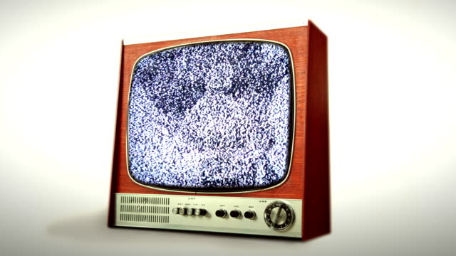 Retro Television and Static. HD