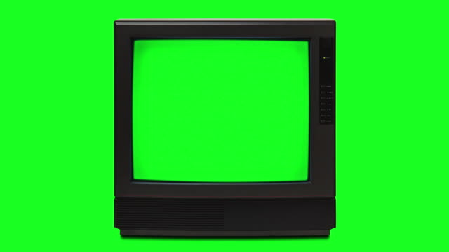 retro television with chroma key inner screen and chroma key background mod - television stock videos & royalty-free footage