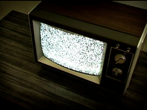 Retro Television with Static