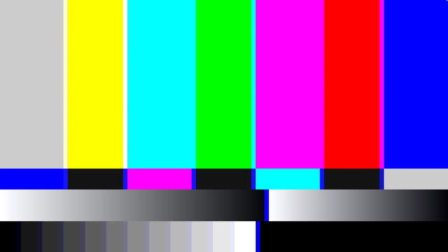 retro tv color bars. - test pattern stock videos & royalty-free footage