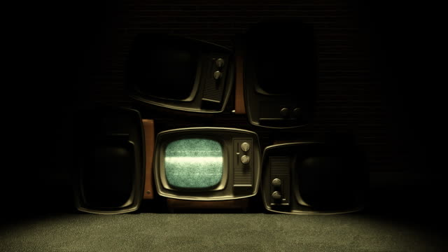 retro tv with static v2 - old fashioned stock videos & royalty-free footage