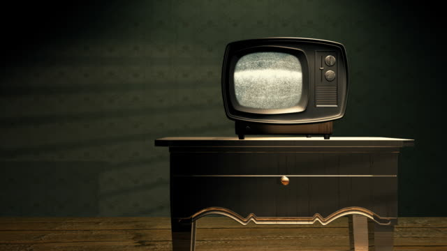 retro tv with static v4 - television show stock videos & royalty-free footage
