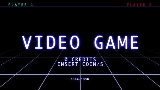 Retro Video Game - Menu