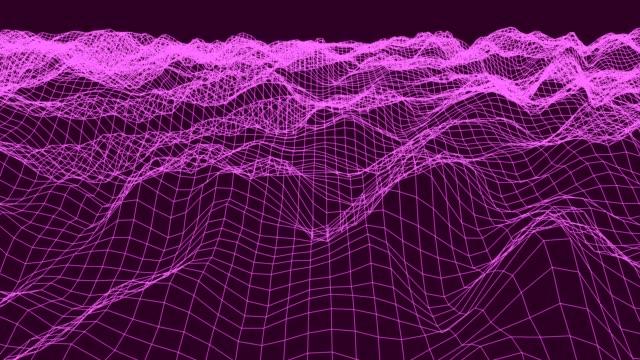 レトロなヴィンテージ80年代オーシャンループ4k - 視覚表示用器材点の映像素材/bロール