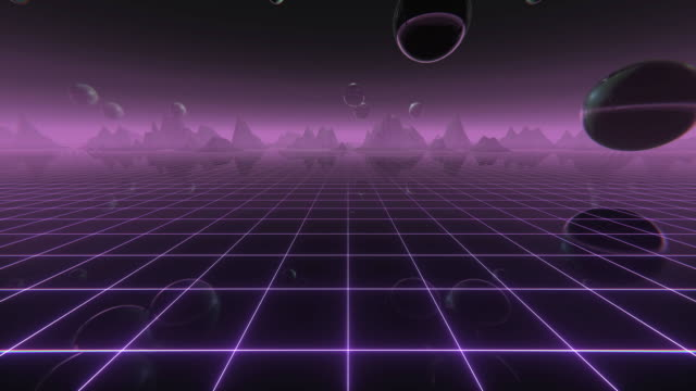 Retro Wave Digital Landscape