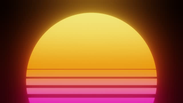 retrowave tropical sunset background - tropical climate stock videos & royalty-free footage