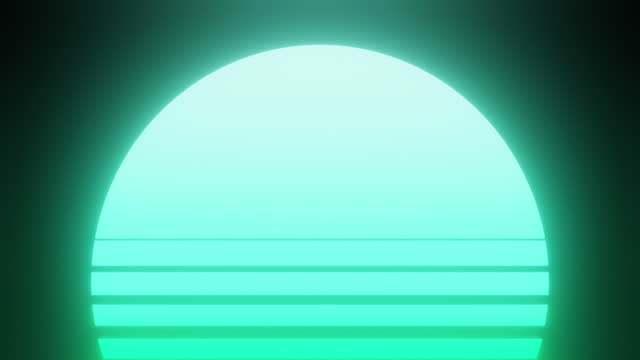 retrowave tropical sunset background - copy space stock videos & royalty-free footage