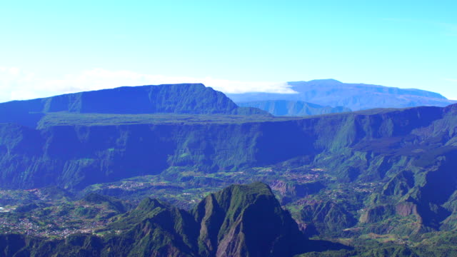reunion island - rock written views - french overseas territory stock videos & royalty-free footage