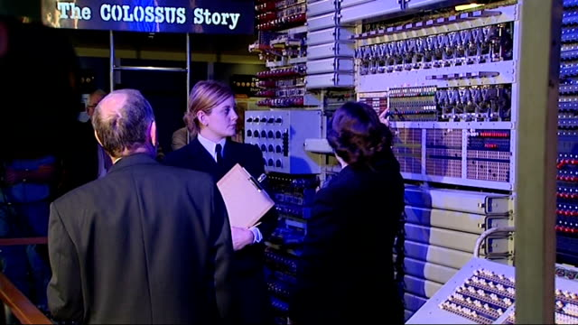 reunion of bletchley women who used the first electronic computer to decifer the enigma code england buckinghamshire bletchley park int veteran... - enigma machine stock videos & royalty-free footage