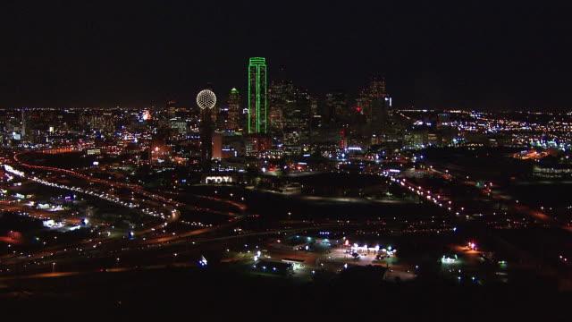 Reunion Tower overlooks the Dallas skyline.