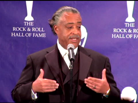 rev al sharpton on james brown brown's hall of fame induction his own musical preferences including van halen and bon jovi hip hop the definition of... - hall of fame stock videos and b-roll footage