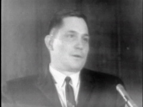 vídeos y material grabado en eventos de stock de rev. charles prestwood of montgomery, al, addresses a meeting of fellow clergymen regarding the murder of civil rights activist james reeb. - human rights or social issues or immigration or employment and labor or protest or riot or lgbtqi rights or women's rights