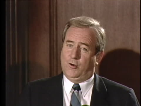 rev. jerry falwell backs away from politics as he rededicates his life to preaching the gospel. - preacher stock videos & royalty-free footage