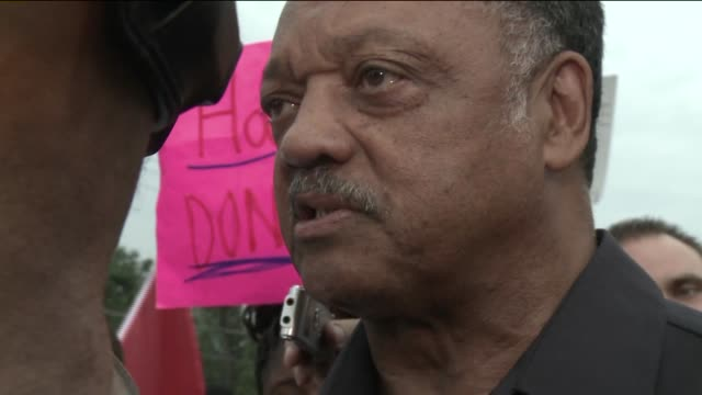rev jesse jackson discusses the power of young and african american people voting and michael brown's death in ferguson mo - missouri stock videos and b-roll footage