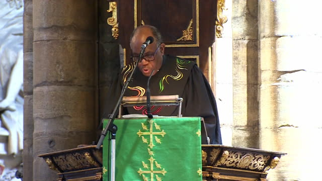 Rev Joel Edwards saying 'to be Black and British is a political task for everyoneas Britain adjusts to the possibilities an unknown future' at the...