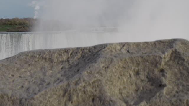 vídeos y material grabado en eventos de stock de revelar disparo para revelar las cataratas del niágara - río niágara