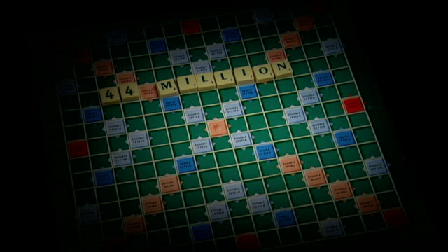 hm revenue and customs tax miscalculations dave hartnett apologises graphicised sequence scrabble board with letters appearing - 登場点の映像素材/bロール