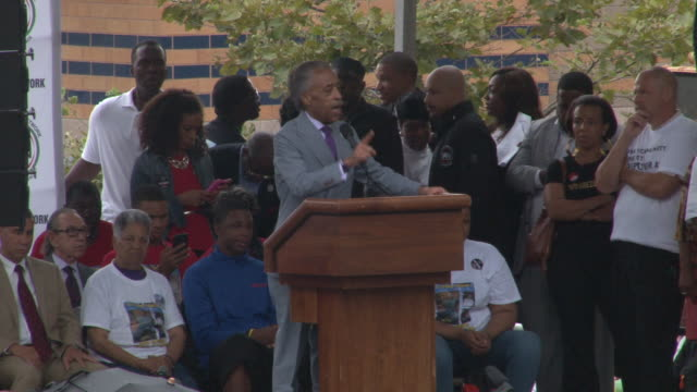 reverend al sharpton address the crowd at the we will not go back march for justice march and rally / in his speech sharpton calls the chokehold that... - al sharpton stock videos & royalty-free footage