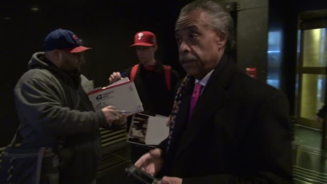 reverend al sharpton enters the nbc building 02/27/12 in celebrity sightings in new york - al sharpton stock videos & royalty-free footage