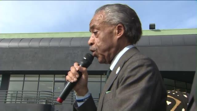 ktla reverend al sharpton leads oscars protest in hollywood - al sharpton stock videos & royalty-free footage