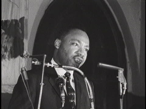 reverend martin luther king jr. delivers a speech to a church congregation in birmingham, alabama concerning the schizophrenic personality of the... - schizophrenia stock videos & royalty-free footage