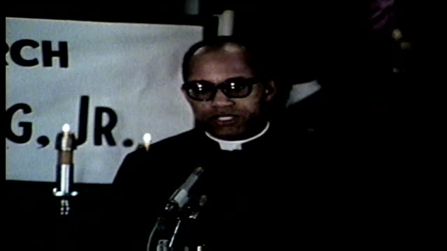 reverend talks about mlk's impact after martin luther king jr was assassinated in memphis on april 4 1968 - martin luther religious leader stock videos & royalty-free footage