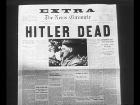 "vídeos de stock, filmes e b-roll de reverse angle typesetting frame as vo typewriter sounds; letters appear individually to form mirror image of words ""greatest headlines"" on one row... - adolf hitler"