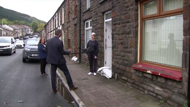 review finds 'seismic shift' needed to manage flood risk in wales; wales: treorchy: ext time laspe / speeded up footage town in valley as clouds pass... - valley stock videos & royalty-free footage