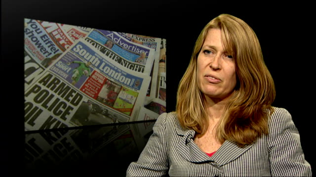 review of local newspapers announced by government london int lynne anderson interview sot no complaint with traditional council publication which... - publication stock videos & royalty-free footage