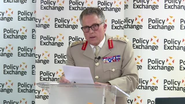 review of the role of the armed forces: ben wallace and sir nick carter speeches; england: london: policy exchange: int sir nick carter speech sot... - ben wallace stock videos & royalty-free footage