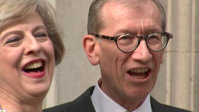 review of the year 2016 13th july 2016 various of may and her husband philip waving on the doorstep of number 10 theresa may mp speech sot - theresa may stock videos & royalty-free footage