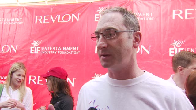 revlon president ceo alan ennis talking about the event at the 13th annual eif revlon run/walk for women at new york ny - revlon stock videos and b-roll footage