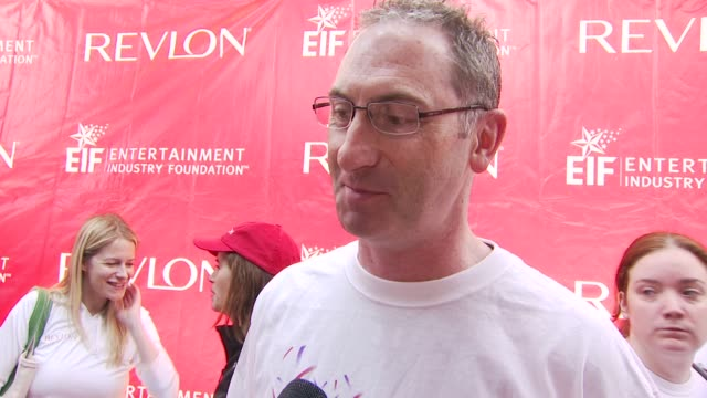 revlon president ceo alan ennis talking about why its important for revlon to be involved at the 13th annual eif revlon run/walk for women at new... - revlon stock videos and b-roll footage