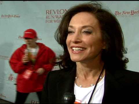 revlon walk/run co-founder lilly tartikoff on how the walk came about and the importance of their research at the 11th annual entertainment industry... - revlon stock videos & royalty-free footage