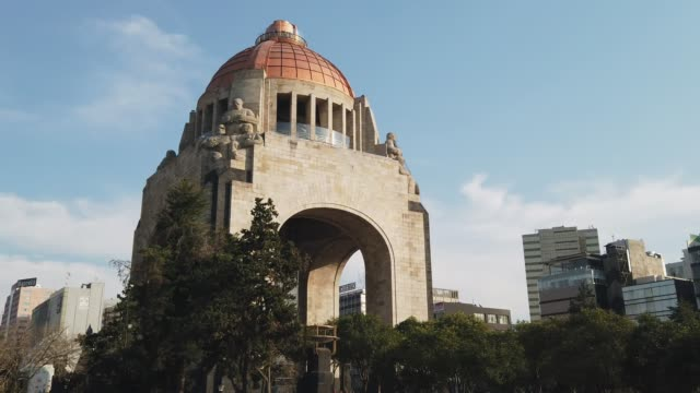 revolution monument in mexico city - monument stock videos & royalty-free footage