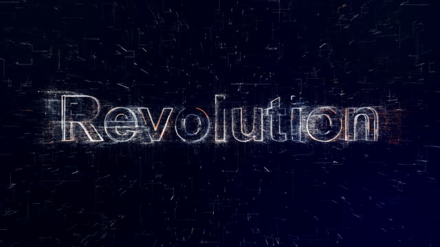 revolution word on digital background - revolution stock videos & royalty-free footage