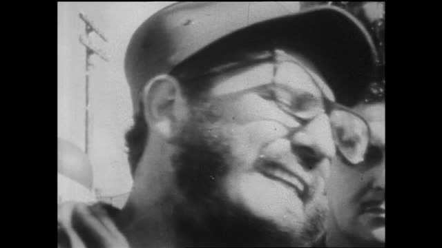 hd revolutionary leader fidel castro wearing glasses shouting w/ aggressive movements ms castro holding microphone close to mouth - fidel castro stock videos and b-roll footage