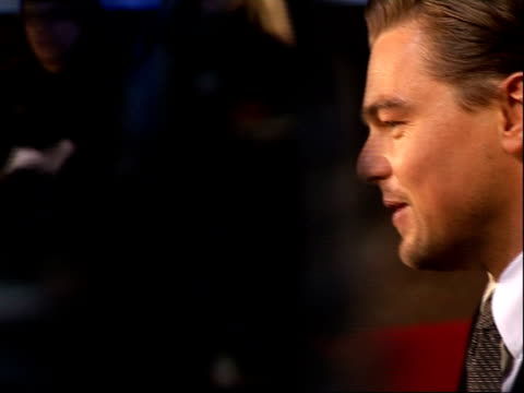 'revolutionary road' premieres in london's leicester square more of winslet signing autographs / various of dicaprio speaking to reporter sot... - kate winslet stock videos and b-roll footage