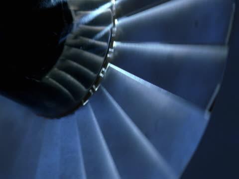 revolving fan blades - turbine stock-videos und b-roll-filmmaterial