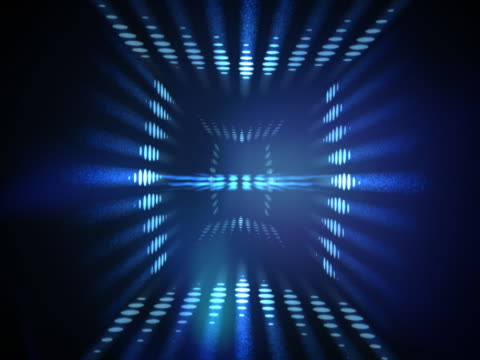 vídeos de stock e filmes b-roll de revolving spotted pattern and shining lights - multimédia