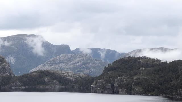 revsvatnet mountain lake near preikestolen, norway - stavanger stock videos & royalty-free footage