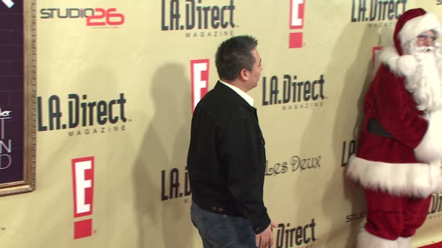 rex lee at the la direct magazine's holiday party at les deux in los angeles california on december 14 2007 - les deux club stock videos & royalty-free footage