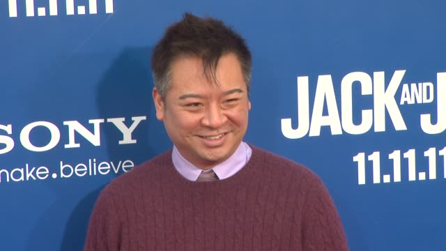 rex lee at the 'jack and jill' world premiere at westwood ca - ウェストウッド地区点の映像素材/bロール