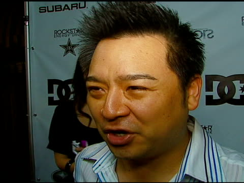 rex lee, on extreme sports being a bit too extreme for him, on still working on 'entourage', on the set being pretty mild at the subaru / dc shoes x... - subaru stock videos & royalty-free footage