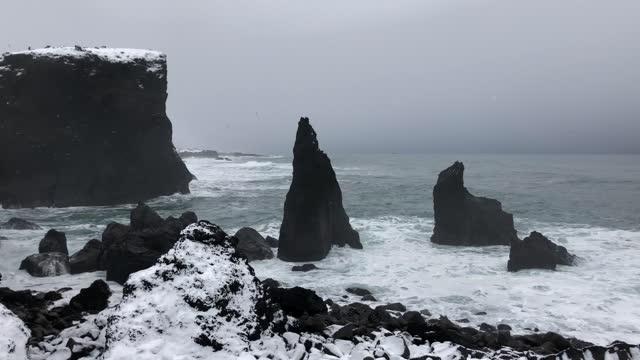 reykjanesviti, reykjanes peninsula, iceland - north atlantic ocean stock videos & royalty-free footage