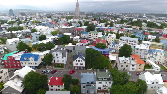 reykjavik aericl view - capital cities stock videos & royalty-free footage