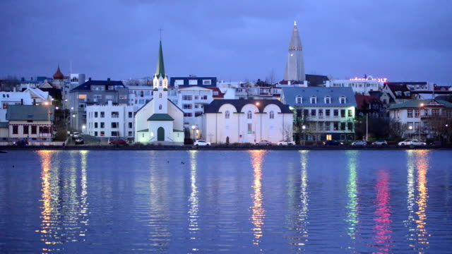 reykjavik cityscape, iceland, europe - iceland stock videos & royalty-free footage